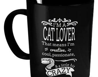 Cat Lover gift - I'm a Cat Lover mug