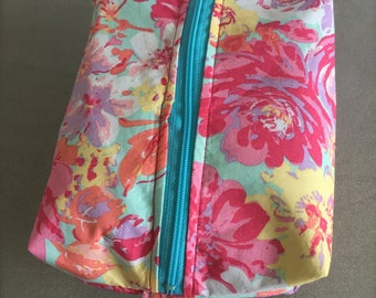 Bright Floral Cosmetic Bag