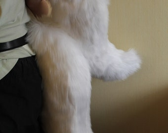 White Canine Tail