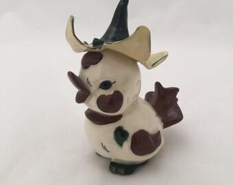 Antique Ceramic Duckling Statuette