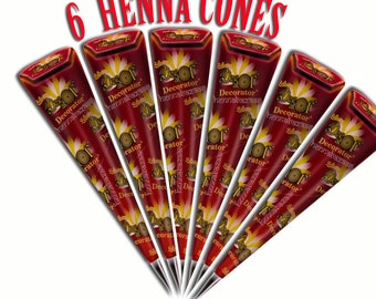 Henna Cones USA 6 Pack Deal.