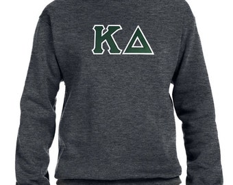 Kappa Delta Sweatshirt . Crew . Custom Stitched Greek Letters