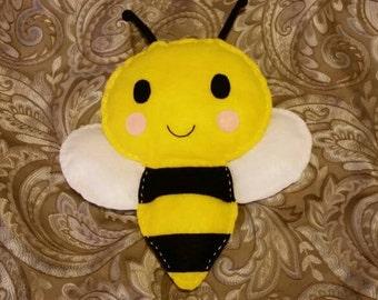 Felt Bumble Bee Toy, Bumblebee Pillow