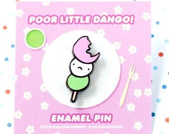 Mochi enamel pin – Japanese enamel pin, dessert enamel pin, cute enamel pin, japanese accessories