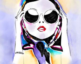 Fashion Print, Fashion Illustration, Fine Art Print, Giclee Print, Watercolor Illustration