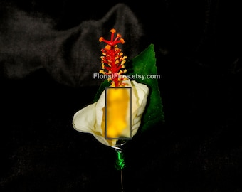 Hi-dick-sus™ Hibiscus Penis French Tickler Wedding Boutonniere Corsage Bachelor Bachelorette Party Silk Flower Accessory