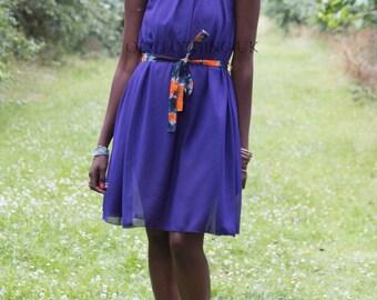 African dress, evening dress, African cocktail dress, chiffon dress, maternity dress African