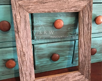 8 x 10 rustic weathered barnwood frame - picture frame - Country Western frame - wall decor -