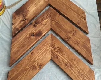 Wood Chevron Arrows