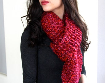 RUBY* // Chunky Scarf // Hand Knit // Extra Wide