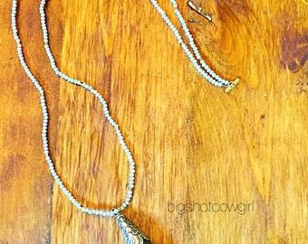 Amethyst Stone Necklace bigshotcowgirl
