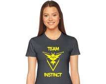 American Apparel Ladies Form Fitting tshirt, Team Valor, Team Mystic, Team Instinct, Pokemon Go shirt - Pokemon Shirts- MORE design OPTIONS