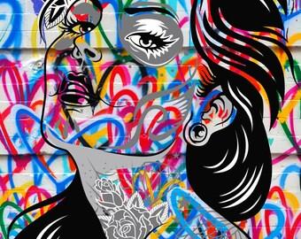 Graffiti Street Art Canvas #41 Picture Gallery Wrap Home Decor Interior Design Modern Artwork Wall Hanging