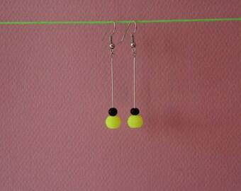 Earrings yellow Fluo