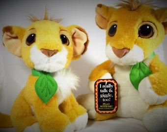 1993 Authentic Original Lion King Stuffed Lions