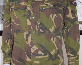 Camouflage Dutch Army Cool Jacket/ KL Seyntex 6080/9095 Military Army jacket made in Holland.