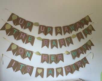 CUSTOM Burlap Flag Banner with Glitter Letters, Numbers, or Symbols