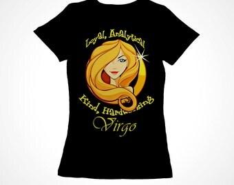 Virgo Girls Zodiac Astrology Tee