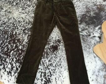 Burberry Velvet size 28 Hunter Green Pants