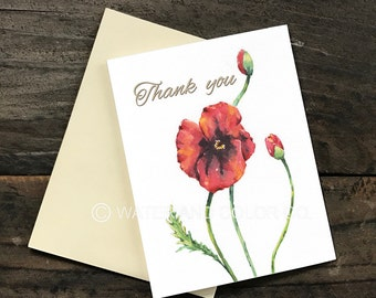 Thank you card -Flower 1, Greeting card
