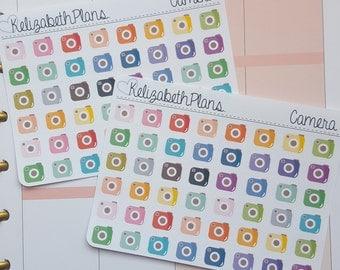 Camera, Instagram, Photo Planner Stickers