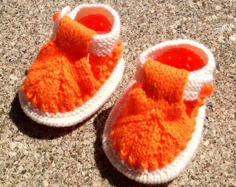 Baby Booties, Boho Knit Booties, Knitting Baby Booties, Baby Knit Sandals, Baby Ugg Boots, Girl Boots, Baby Shower Gift, Funky Baby Boots