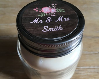 Mini Candle Wedding Favors with Iron Lid, Set of 12