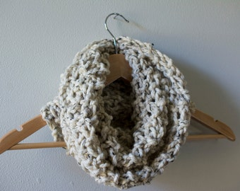 Chunky Knit Oatmeal Cowl Scarf  - Slouchy, comfy, cozy