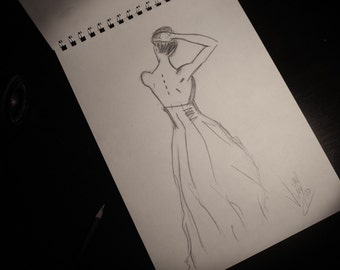 Minimalist Pencil Sketch - Fashion