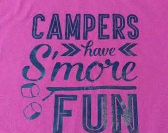 Girls camping shirt