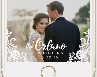 Elegant Lace Wedding Snapchat Geofilter | Custom Script Personalized Instant Download | Birthday Filter | Bridal Shower Geofilter