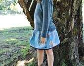 """Jupe """"Patti"""" (T.5ans) -Conte de fées, Blanche-Neige-Look retro, vintage-Coton/lin - O.CAROL"""