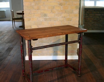 Vintage industrial design desktop workbench industrial design table loft Workbench desk table