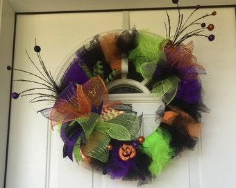 Festive Halloween Door Wreath