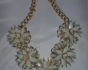 Gold and Cream Bold Necklace
