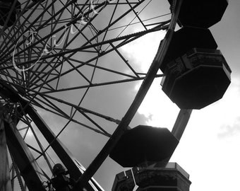 Digital Photograph Print of a Carnival Ride