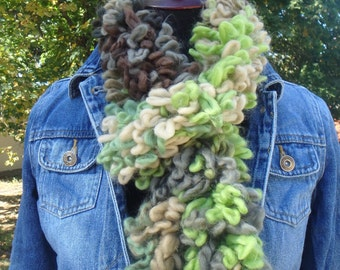 Camouflage Plush Loopy Scarf