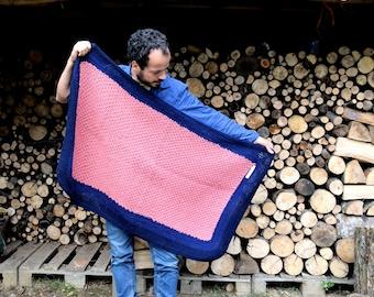 Blanket, Wool Blanket, Handmade afghan, crocheted blanket, King size blanket, Colorful blanket, home decor, Bedding,  Baby blanket,