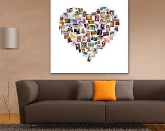 Heart photo montage