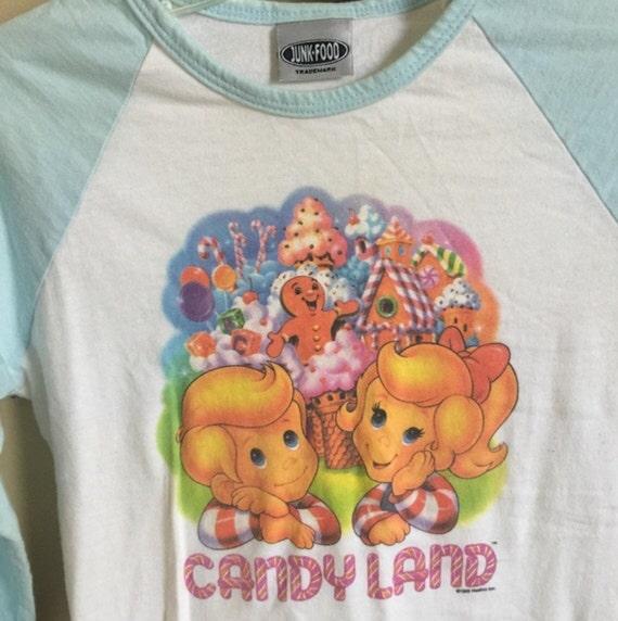 Vintage 90's Candyland Baseball Shirt // Halloween Costume // Tween // Teen