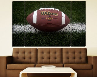 Large Wall Large Wall  Football Canvas Color Football  Multipanel Canvas Football Canvas Art Large Ball  Sport Print