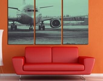 Aircraft  Wall Art Multi Panels Set Plane Wall Art Plane Canvas Art Aircraft Print Poster  MultiPanel