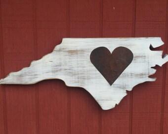 NC Rusted Heart Wall Art