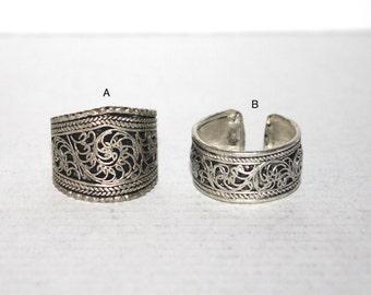Filigree ring, Boho Ring, Tribal Ring, Silver ring, Gypsy Ring, Adjustable ring, yoga ring, Nepal ring, Tibetan ring AR9