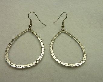 Oval Pierced Earrings