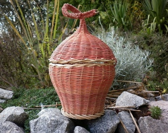 Box with original cover, woven rattan