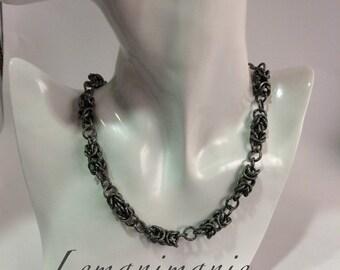 Chainmail necklace grey/grey chainmail necklace