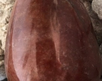 Red Aventurine Egg with Mica