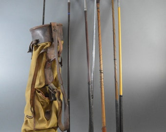 Vintage Golf Club set and bag 1920/1930