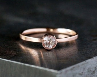 Morganite Engagement Ring, Pink Gemstone Ring, 14k Rose Gold Band, Unique Engagement Ring, Soft Pink Stone, Handmade Jewelry